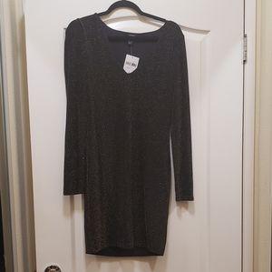 Black Long Sleeve Sparkle Dress